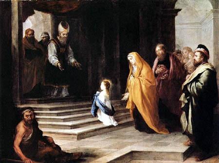 Nossa Senhora adentrando no templo[11]